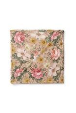 Mini Scout LLC Garden Floral Swaddle  Rose Pink