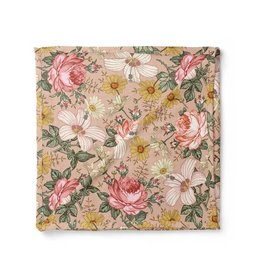 Mini Scout LLC Garden Floral Swaddle  Rose Pink