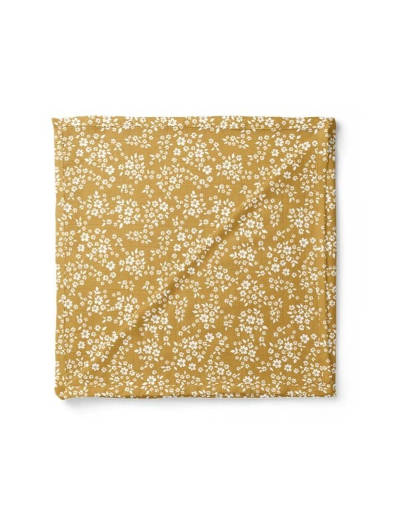 Mini Scout LLC Whimsy Floral Swaddle Mustard