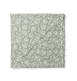 Mini Scout LLC Whimsy Floral Swaddle Sage Green