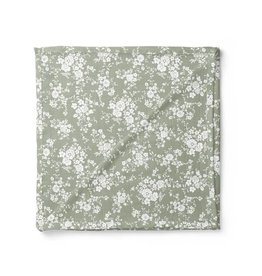 Mini Scout LLC Vintage Bouquet Swaddle Green