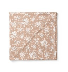 Mini Scout LLC Vintage Bouquet Swaddle Peach