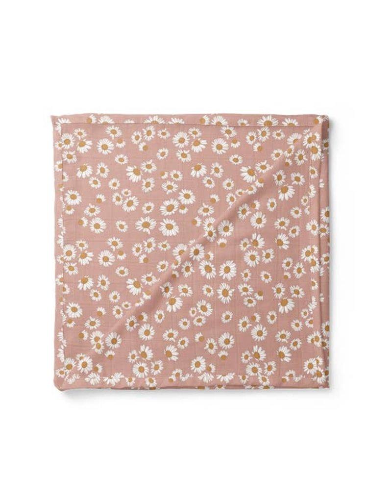 Mini Scout LLC Daisy Swaddle Blush Pink
