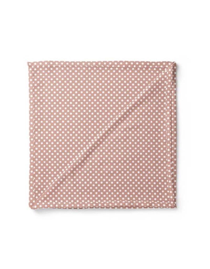 Mini Scout LLC Polka Dot Swaddle Blush Pink