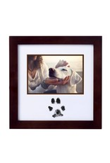 Pearhead Pawprints Photo Frame and Ink Kit, Espresso