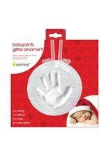 Pearhead Babyprints Christmas Ornament, Glitter