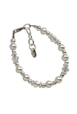 Cherished Moments Hope - Sterling Silver Pearl And Crystal Bracelet