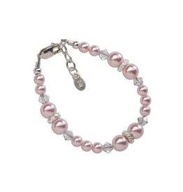 Cherished Moments Sadie - Sterling Silver Pink Pearl Bracelet