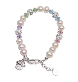 Cherished Moments Sweet Cupcake (Multi) - Sterling Silver Cupcake Bracelet