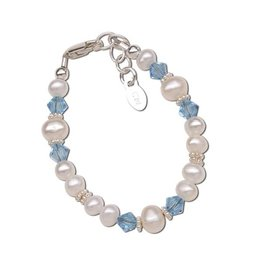 Cherished Moments Birthstone Bracelet - Sterling Silver Freshwater Pearls