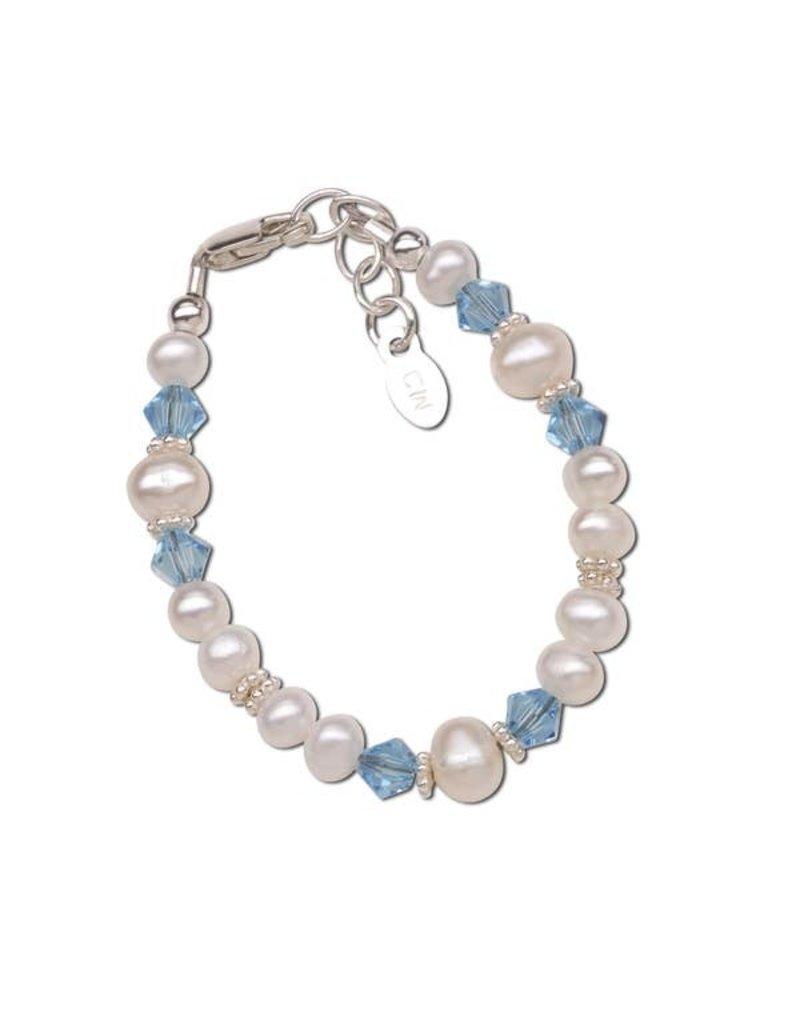 Birthstone Bracelet - Sterling Silver Freshwater Pearls