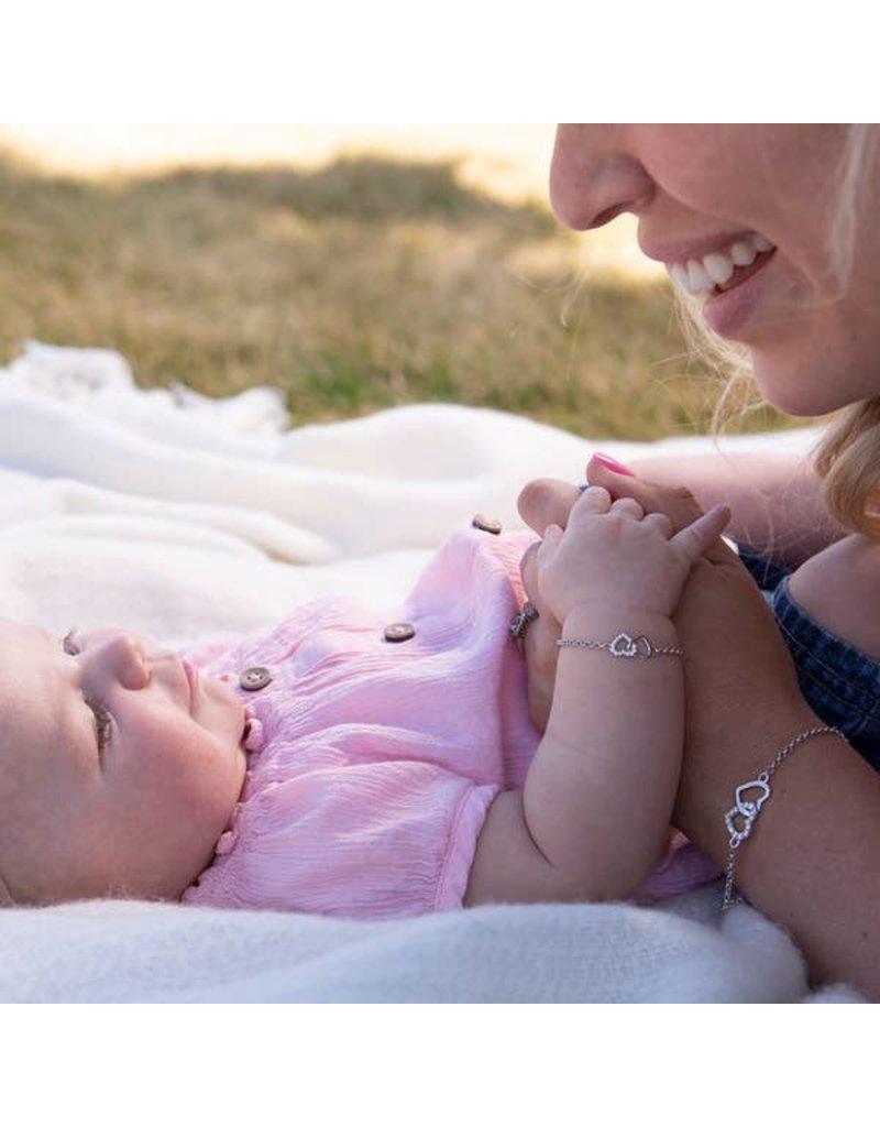 Cherished Moments Mom and Me Bracelet 2-Piece Set - Silver Hearts