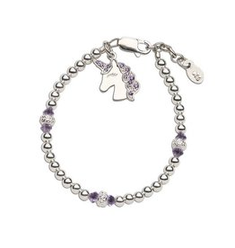 Cherished Moments Unicorn (Lavender) - Sterling Silver Unicorn Bracelet
