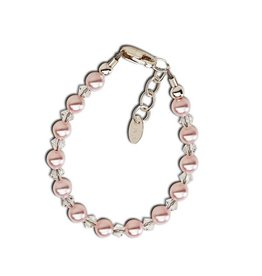 Cherished Moments Payton - Sterling Silver Pink Pearl Bracelet