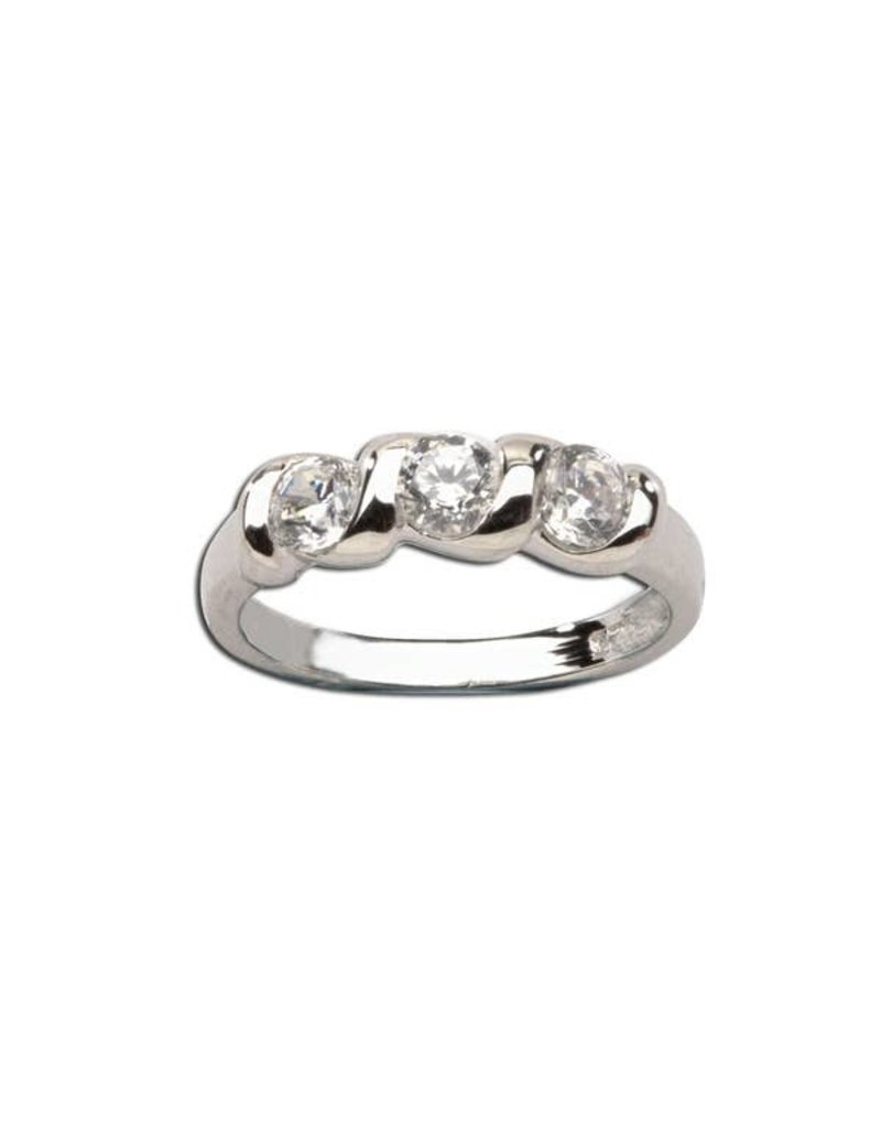 Cherished Moments Sterling Silver Baby Ring with Twisted Band