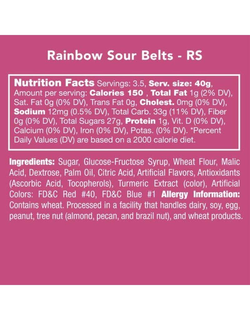 Candy Club Candy Club- Rainbow Sour Belts 5oz