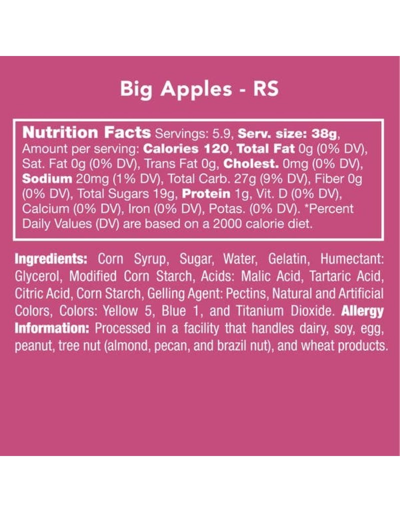 Candy Club Candy Club- Big Apples 8oz