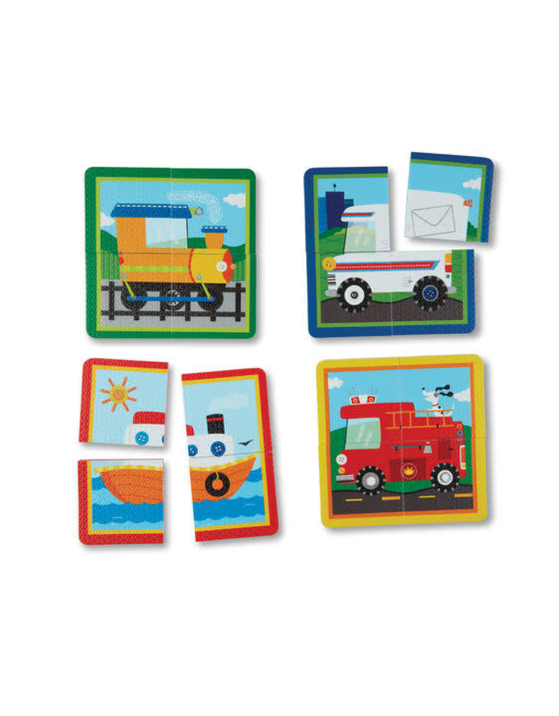 Melissa & Doug Soft Shapes Take Along Puzzle - Vehicles