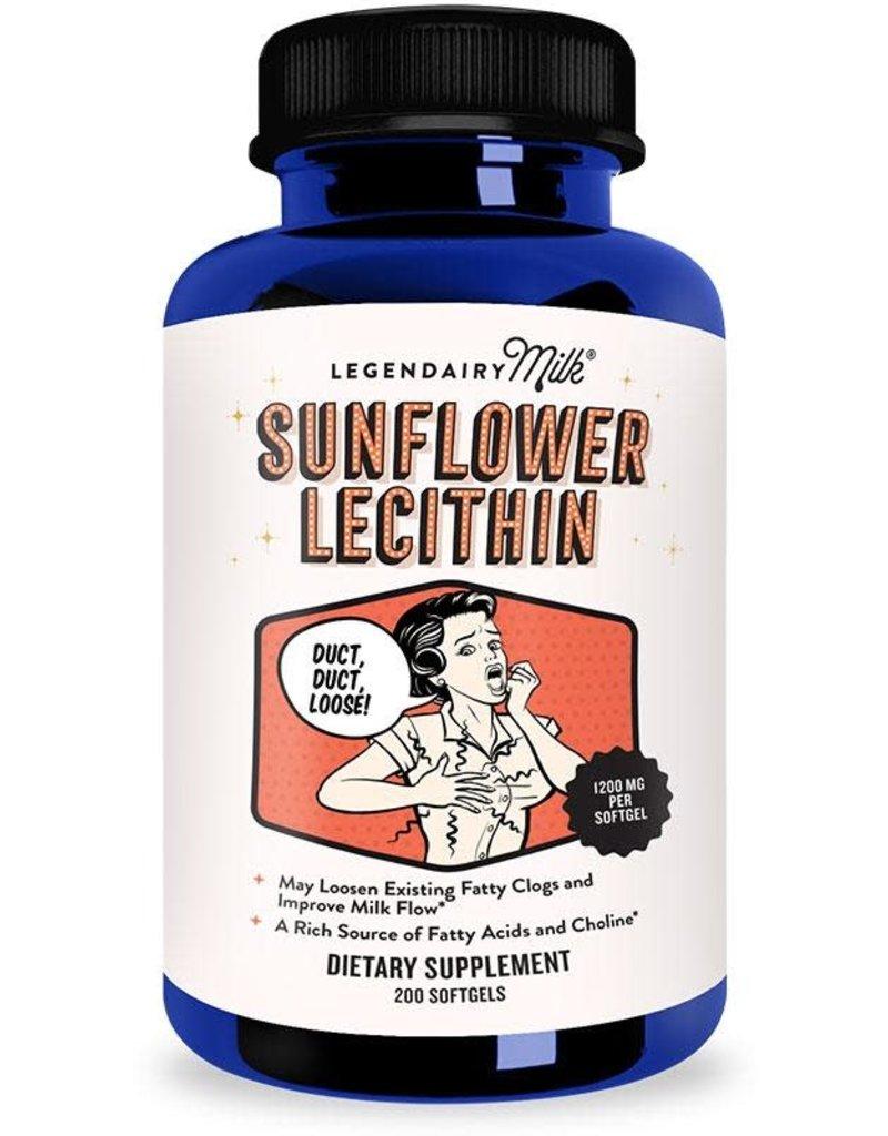 Legendairy Milk Organic Sunflower Lecithin - 200 capsule bottle
