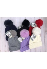 Swanky Babies Insulated Heavy Knit Hat with puff