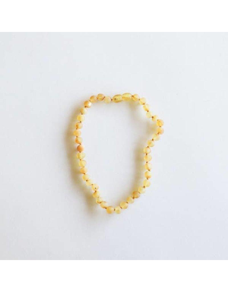 """CanyonLeaf 11"""" Raw Amber  Necklace Honey"""