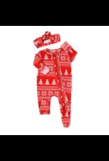 Gigi & Max Gigi & Max Christmas Zip Jammies