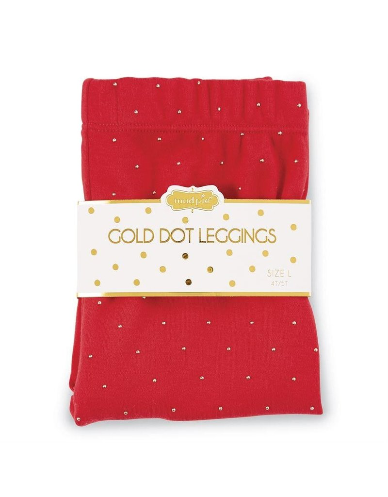 Mudpie Red and Gold Leggings Small