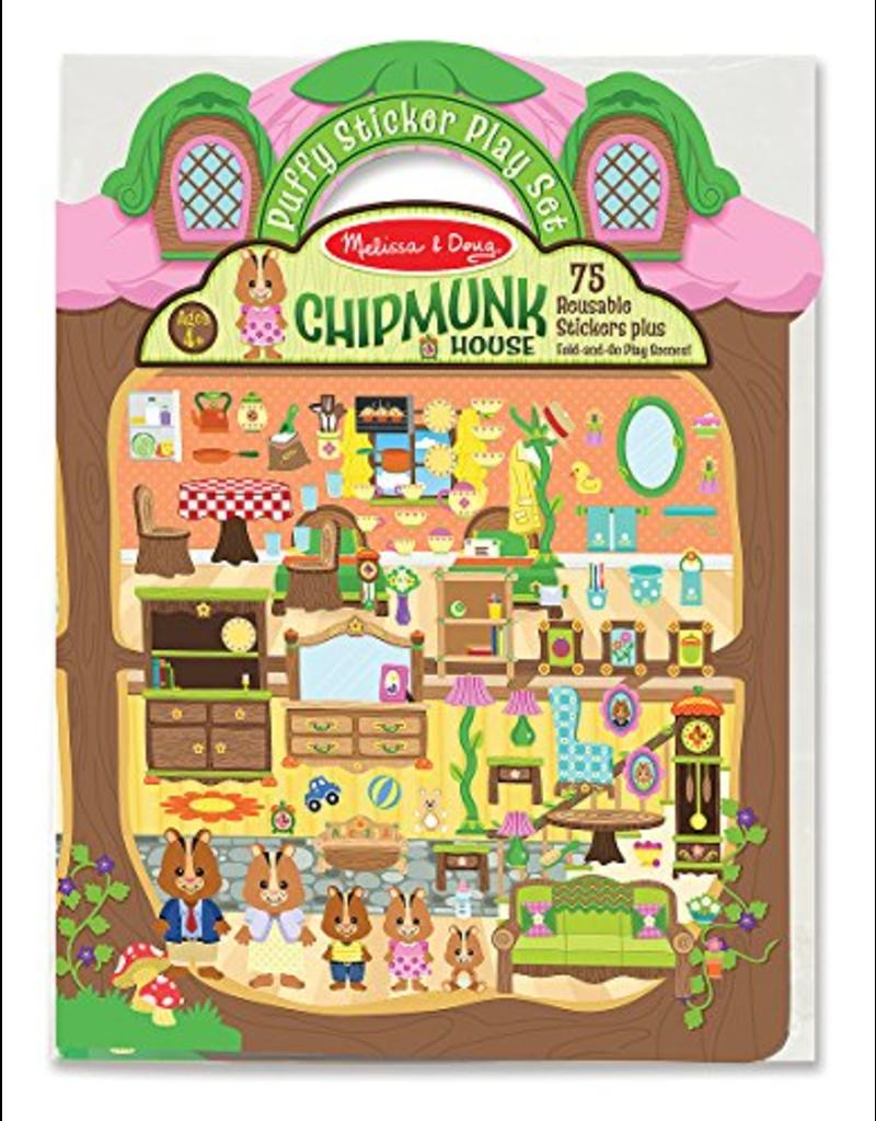 Melissa & Doug Puffy Stickers Chipmunk House
