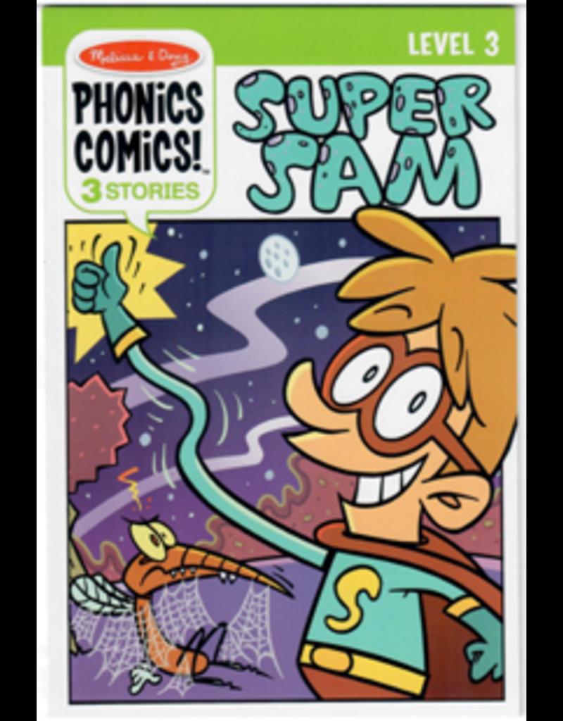 Melissa & Doug Phonics Comics: Level 3 Super Sam