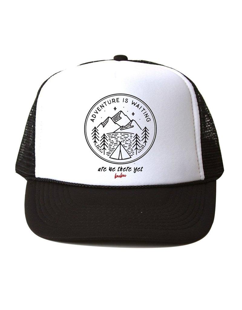 Bubu Adult Black Trucker hat - Adventure Is waiting
