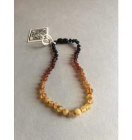 "CanyonLeaf 13"" Raw Amber  Necklace Ombre"