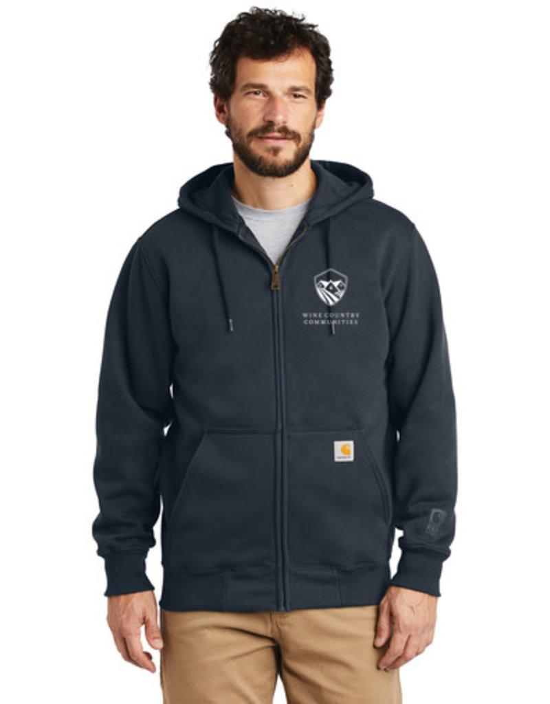 Swanky Babies NEW LOGO WCC 100614 Carhartt ® Rain Defender ® Paxton Heavyweight Hooded Zip-Front Sweatshirt