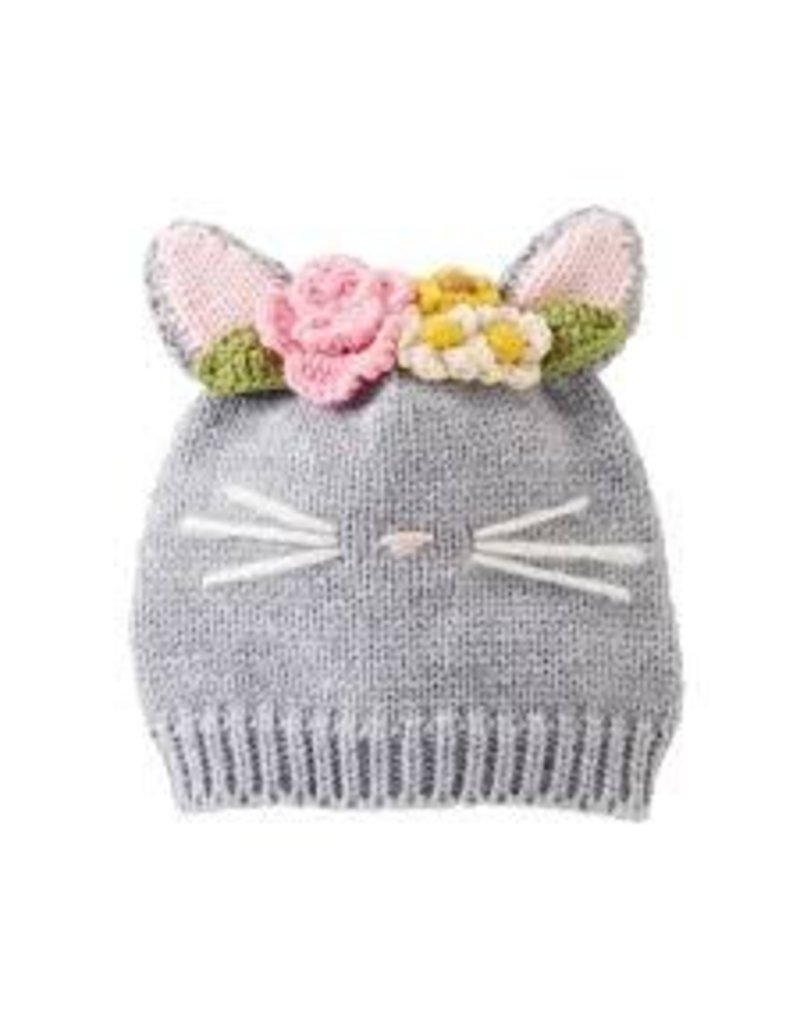 Mud Pie INFANT CAT KNITTED HAT