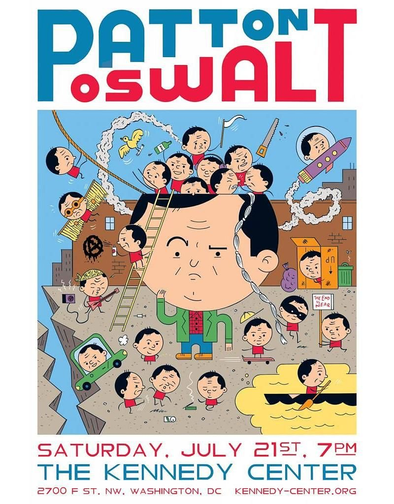 "Ivan Brunetti ""Patton Oswalt at The Kennedy Center"" by Ivan Brunetti"