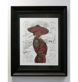 "Sam Kirk ""Flor de Toloache"" FRAMED Print, limited Edition of 40, Signed and Numbered by Artist, 16 x 20"