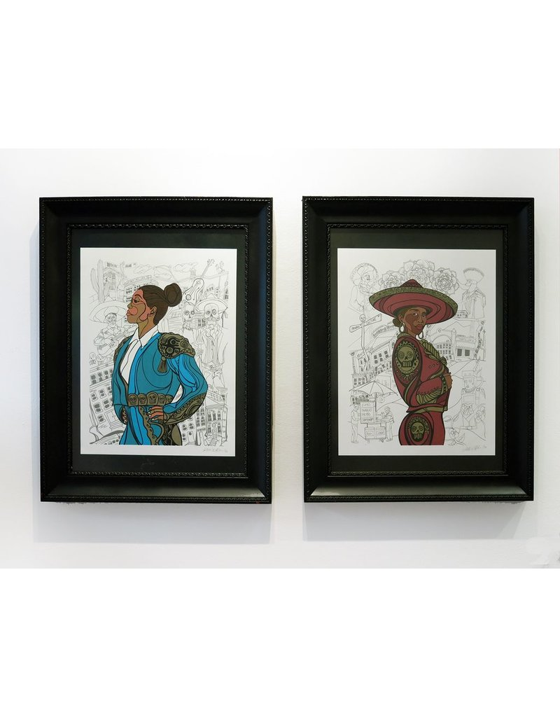 """Sam Kirk """"Flor de Toloache"""" FRAMED Print, limited Edition of 40, Signed and Numbered by Artist, 16 x 20"""