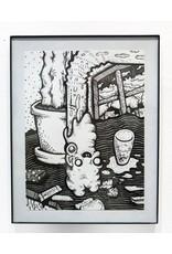 JJ McLuckie Gum Straw, ink, by JJ McLuckie