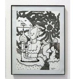 JJ McLuckie Garden, ink, by JJ McLuckie