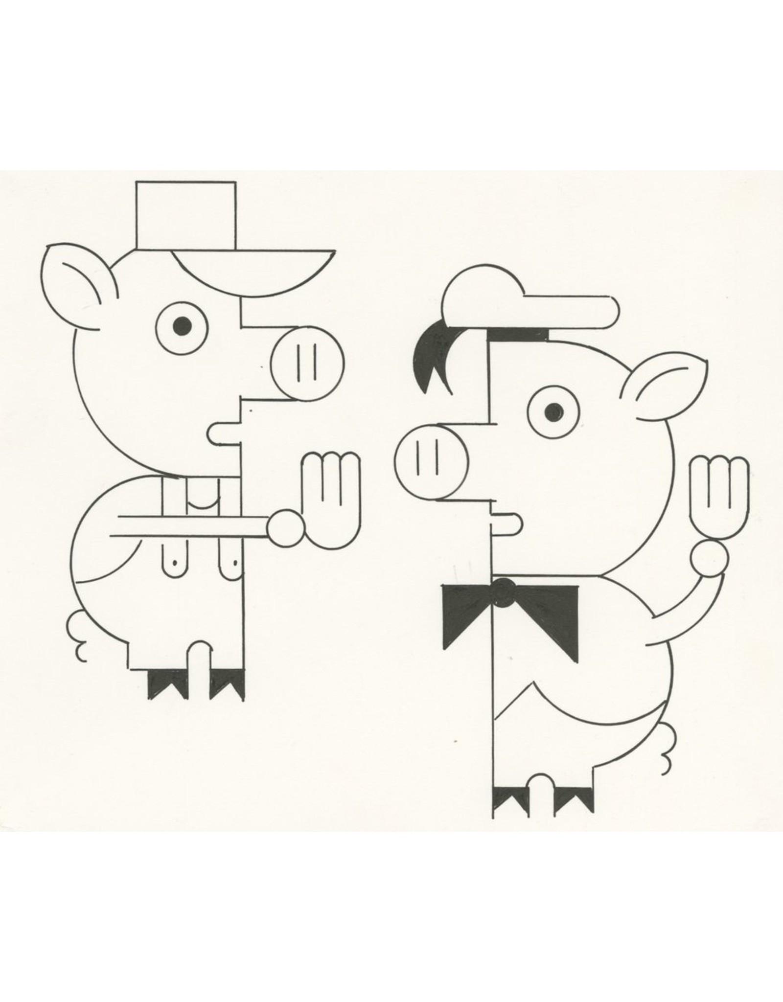 Ivan Brunetti Pigs, 2014, Illustration by Ivan Brunetti