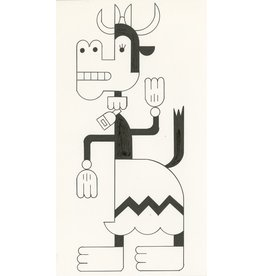 Ivan Brunetti Cow, 2014, Illustration by Ivan Brunetti