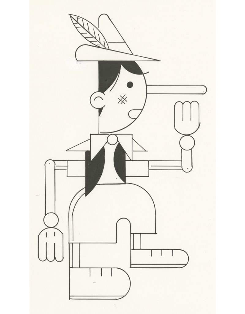 Ivan Brunetti Puppet, Illustration by Ivan Brunetti