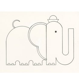 Ivan Brunetti Elephant, Illustration by Ivan Brunetti