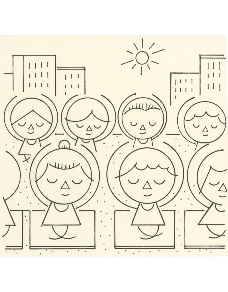 Ivan Brunetti Yoga, Illustration by Ivan Brunetti for the New Yorker, Goings On About Town, September 12, 2013