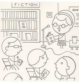 Ivan Brunetti Reading, Illustration by Ivan Brunetti for the New Yorker, Goings On About Town, September 12, 2013