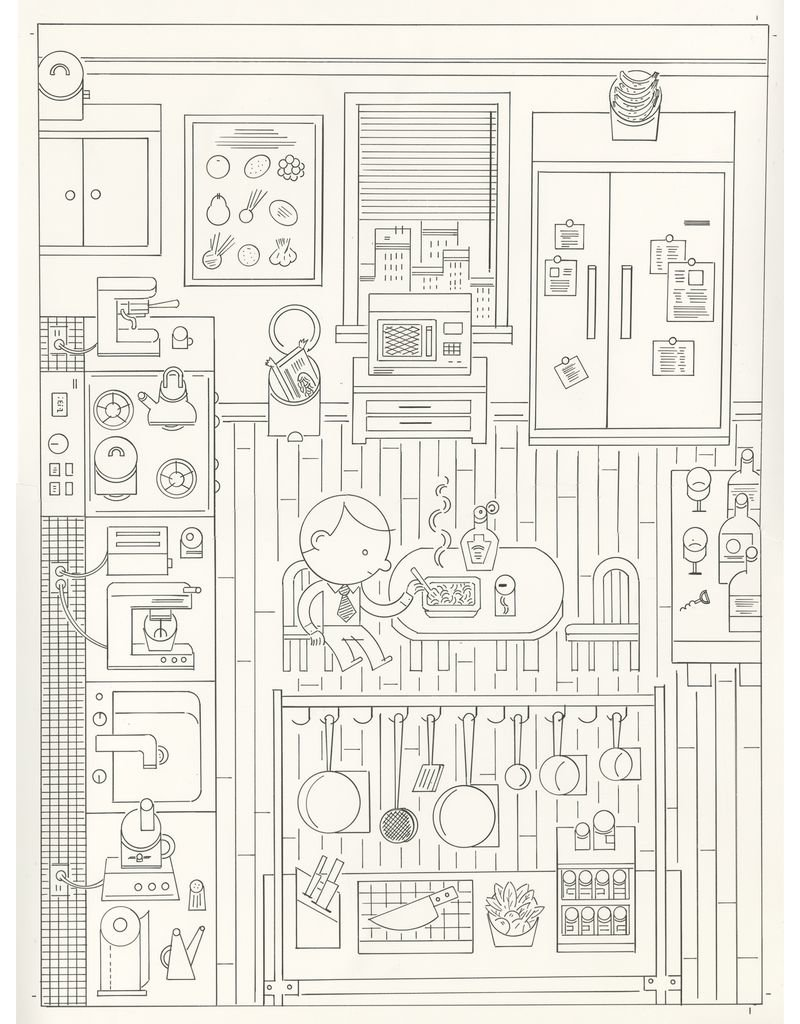 Ivan Brunetti Cover of the New Yorker, illustration by Ivan Brunetti for Comfort Food, November 2, 2015