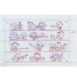 Ivan Brunetti Musicians, pencil roughs by Ivan Brunetti for Toon Book 3X4, 2017