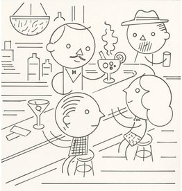 Ivan Brunetti Bar, Illustration by Ivan Brunetti for the New Yorker, Goings On About Town, September 12, 2013