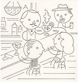 Ivan Brunetti Bar, Illustration by Ivan Brunetti for the New Yorker, Goings On About Town, September 12, 2013