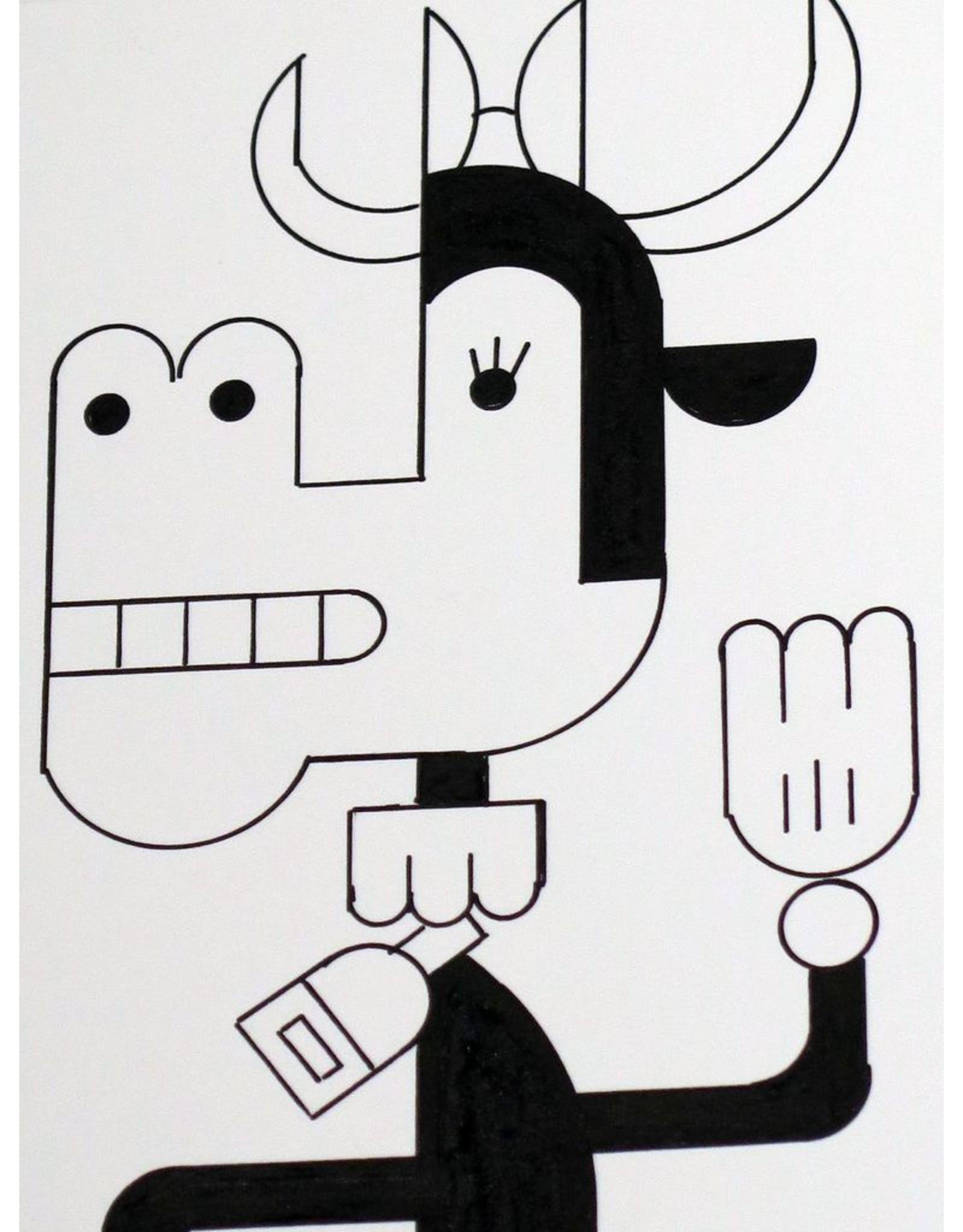 Ivan Brunetti Cow, 2014, Illustration by Ivan Brunetti