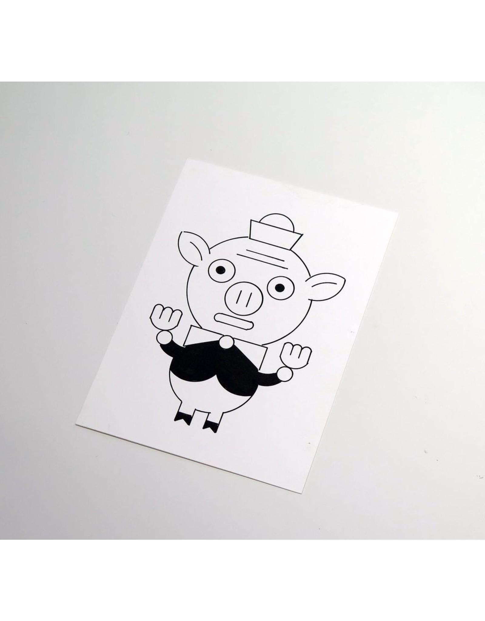 Ivan Brunetti Pig, 2014, Illustration by Ivan Brunetti